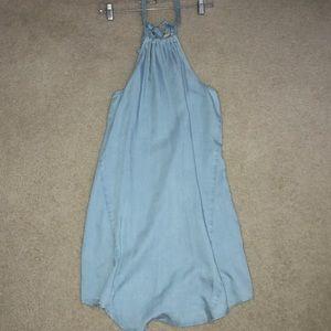 Loft light jean summer dress